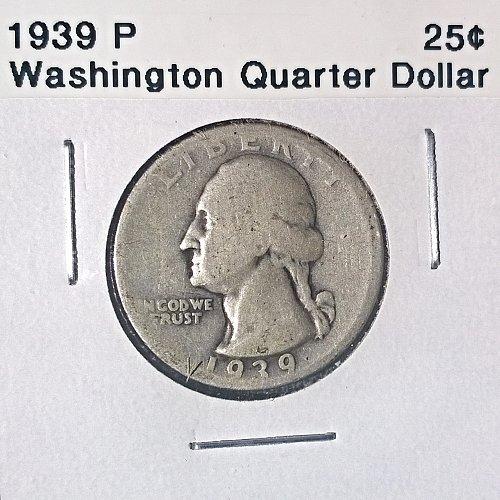 1939 P Washington Quarter Dollar