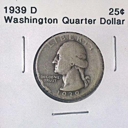 1939 D Washington Quarter Dollar
