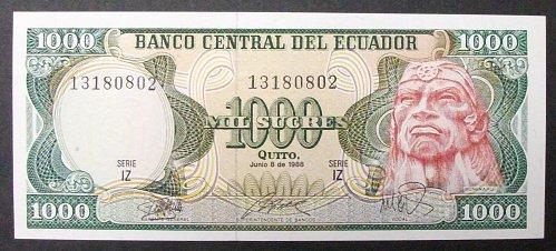 Ecuador P125b 1000 Sucres UNC63