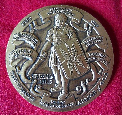 helmet of salvation coin
