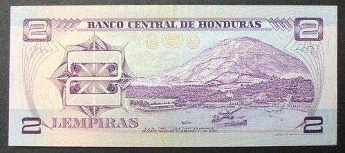 Honduras P61 2 Lempiras UNC60