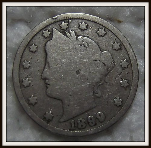1899 5C Liberty Nickel