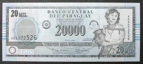 Paraguay P225 20000 Guaranies UNC65