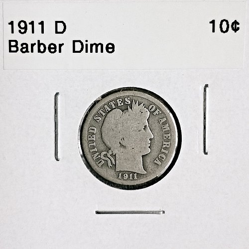 1911 D Barber Dime