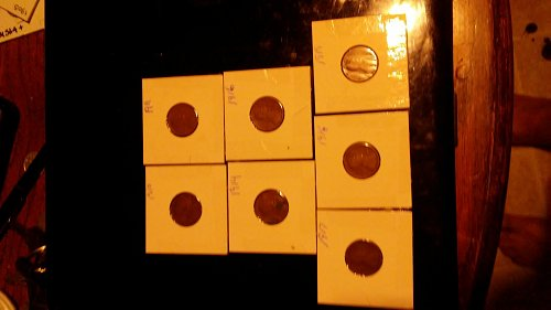 7 coin lot 1910/11/14/16/17/18/19 wheat lot