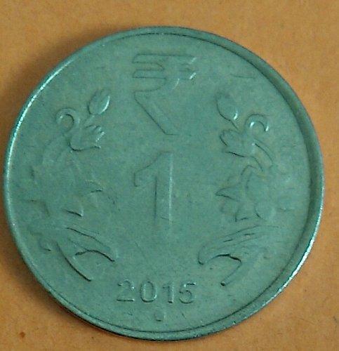 2015....India one Rupee...cir. coin