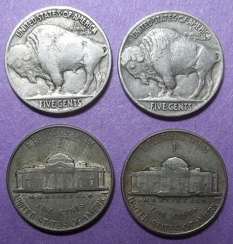 Mix of Buffalo and Jefferson Nickels Lot NMxwbf