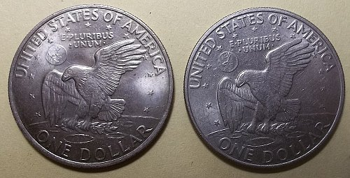 1972 P & D Eisenhower Dollars Lot JEn77