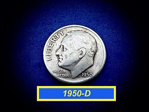 1950-D  Roosevelt  ☆ Circulated   ☆ (#3781)a