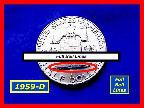 1959-D Franklin ✬  Brilliant UNC & FBL ✮  (#1633)a