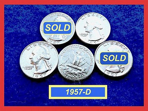1957-D  Quarter  ☆ CIRC ☆    (#2810.3)a