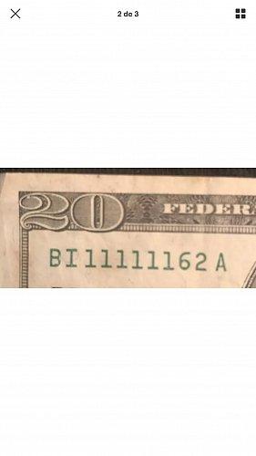 20 Dollar series 1999 radar millonario BI 11111162 A