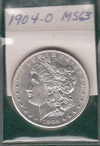 U.S.  Morgan Silver Dollar- 1904 o  -MS63  /  DR-61