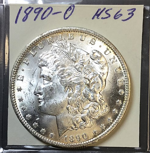 U.S.  Morgan Silver Dollar- 1890 o  -MS63  /  DR-65