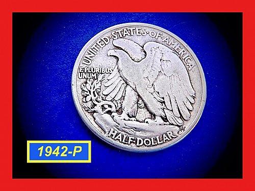 1942-P  Liberty Walking Half  ☆ ☆ ☆  (#1931)a