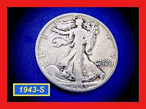 1943-S  Liberty Walking Half  ☆ ☆ ☆  (#1932)a