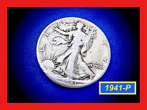 1941-P  Liberty Walking Half  ☆ ☆ ☆  (#1933)a