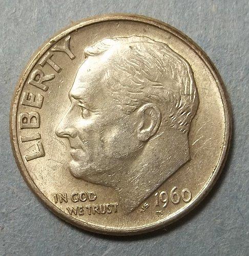1960d Roosevelt Dime Lot RsD6d
