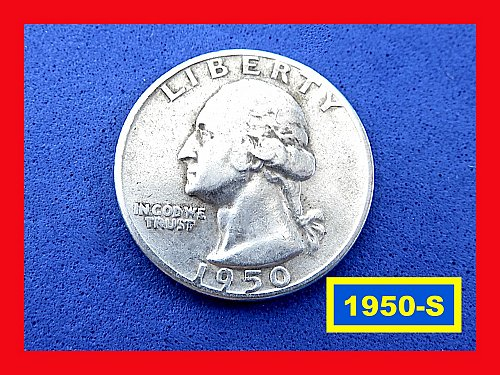 "1950-S   Washington Quarter ✬ ""VF""   ✬ ★  (#2866)a"