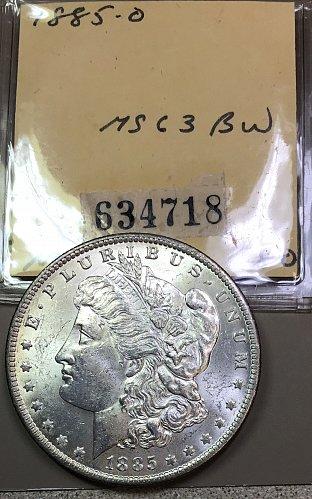 U.S.  Morgan Silver Dollar- 1885 o  -MS63  /  DR-66