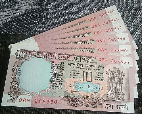 India  K R Puri ..UNC. Six .notes