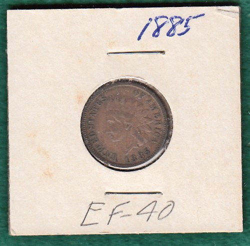 U.S. Indian Head 1885 EF-40  /   WM-77