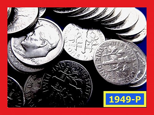 1949-P  Roosevelt  Silver Dime ☆   (#3785)a