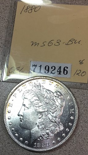 U.S.  Morgan Silver Dollar- 1880   /  DR-70