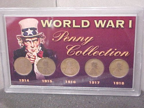 Lincoln Penny War Collection WWI & WWII