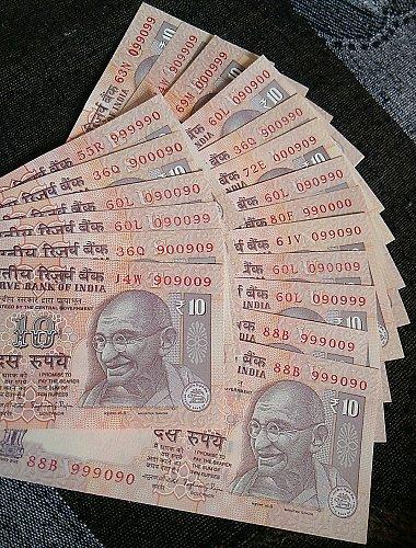 Zero 9 mixing india 19  UNC notes