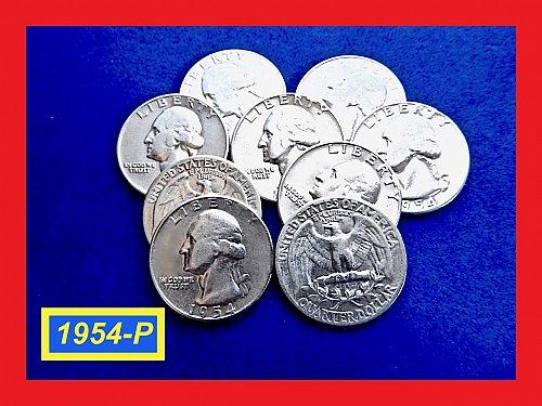 "1954-P  ""VF"" SIlver Quarters ☆ (#2870)a"