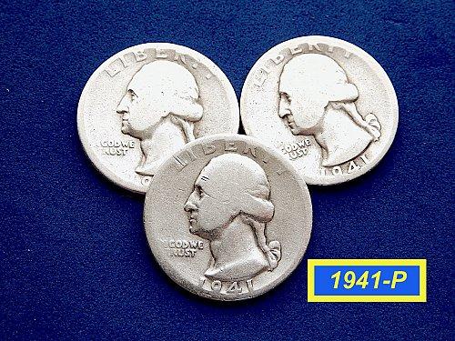 1941-P  CIRCULATED SIlver Quarters ☆ (#2871)a