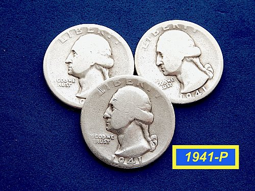 1941-P  CIRCULATED SIlver Quarters ☆  (#2871)a