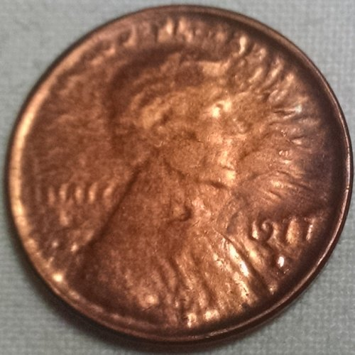 Lincoln Memorial Penny Capped Die Error also called Brockage Error