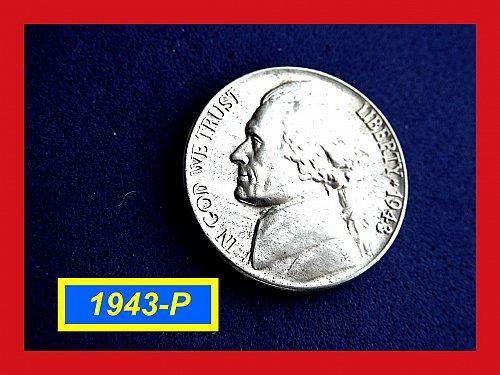 """1943-P Jefferson Silver War  Nickel  ☆ """"AU-53"""" ☆ (#6440)"""