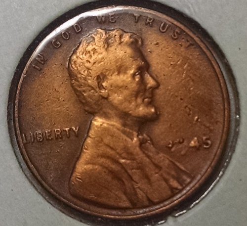 Missing Design Element 1945 P Lincoln Wheat Penny