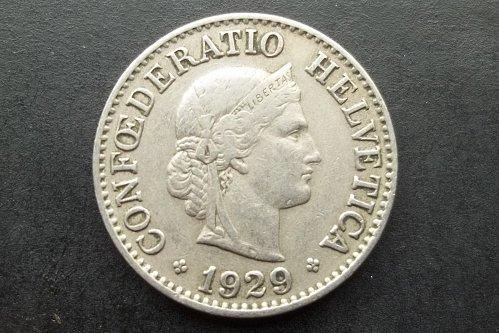 SWITZERLAND 1929 10 RAPPEN WORLD COIN
