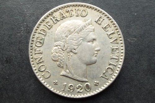 SWITZERLAND 1920 5 RAPPEN WORLD COIN