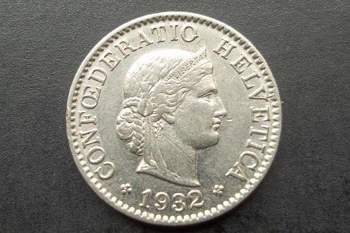 SWITZERLAND 1932 5 RAPPEN WORLD COIN