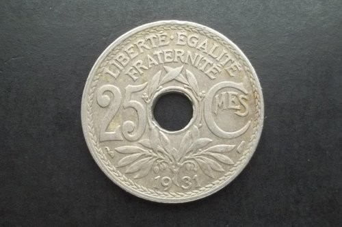 FRANCE 1931 25 CENTIMES WORLD COIN