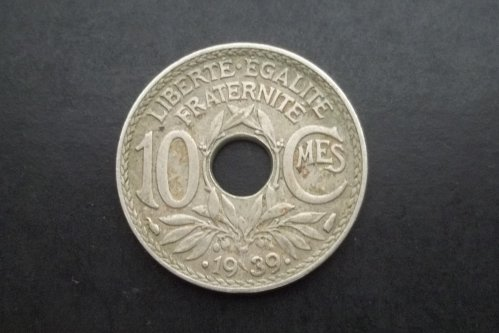 FRANCE 1939 10 CENTIMES WORLD COIN