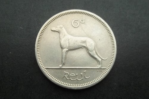 IRELAND 1964 6 PENCE WORLD COIN