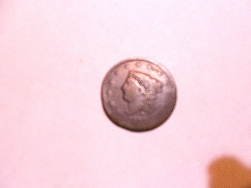 1834  large 8  small star  medium letters  Coronet Head Large Cent