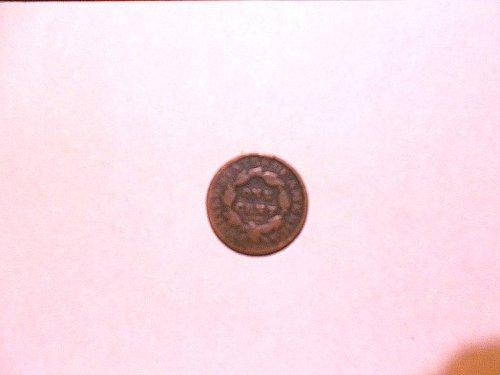 1835  Large 8  Large Stars  Coronet Head  Large Cent  fine/fine +