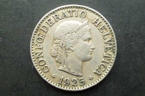 SWITZERLAND 1925 10 RAPPEN WORLD COIN