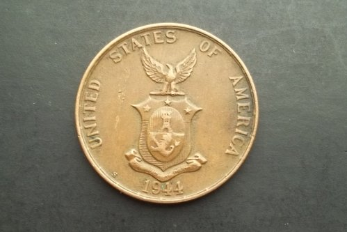 PHILIPPINES 1944-S 1 CENTAVOS WORLD COIN