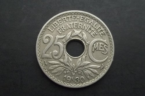 FRANCE 1930 25 CENTIMES WORLD COIN
