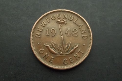 NEWFOUNDLAND 1942 1 CENT WORLD COIN