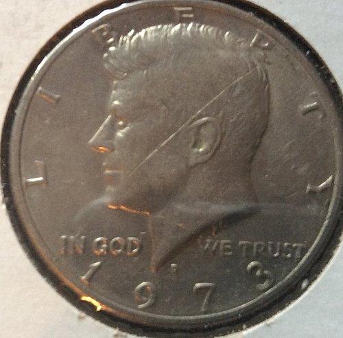 1973 D Kennedy Half Dollars