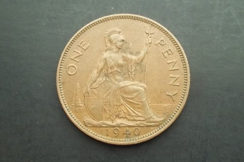 GREAT BRITAIN 1940 1 PENNY WORLD COIN